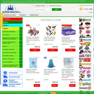 SUPER-HRACKY.CZ - Široká nabídka licenčních produktů pro děti. Akční ceny, vše skladem, rychlé dodání. Zasíláme i