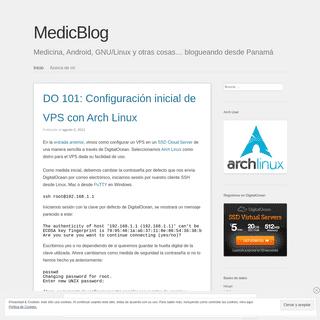MedicBlog - Medicina, Android, GNU-Linux y otras cosas… blogueando desde Panamá