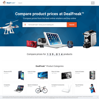 DealFreak - Everything You Need - All In One Place And At Low Prices