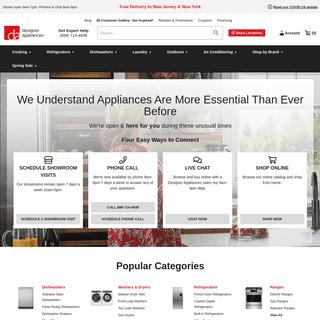 Designer Appliances- Online Appliance Store, Modern Showrooms in NJ