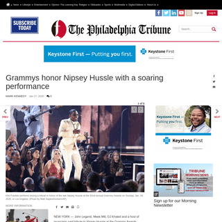Grammys honor Nipsey Hussle with a soaring performance - Music - phillytrib.com