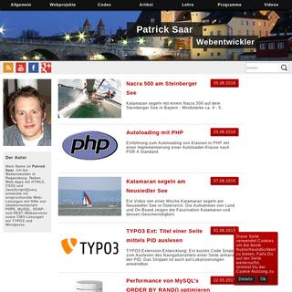 Neuigkeiten - Patrick Saar - Webentwickler - Regensburg