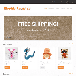 ArchiveBay.com - plushieparadise.com - Home - Plushie Paradise - Pokemon, Minecraft and more Plush Toys - Your Source for Stuffed Animals and Plush Toys