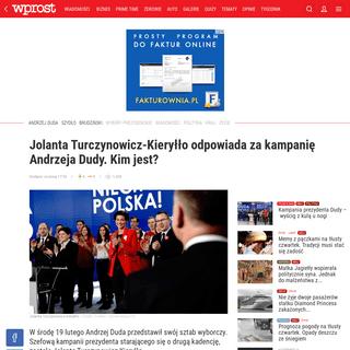 ArchiveBay.com - www.wprost.pl/kraj/10300097/jolanta-turczynowicz-kieryllo-odpowiada-za-kampanie-andrzeja-dudy-kim-jest.html - Kim jest Jolanta Turczynowicz-Kieryłło- Odpowiada za kampanię Dudy