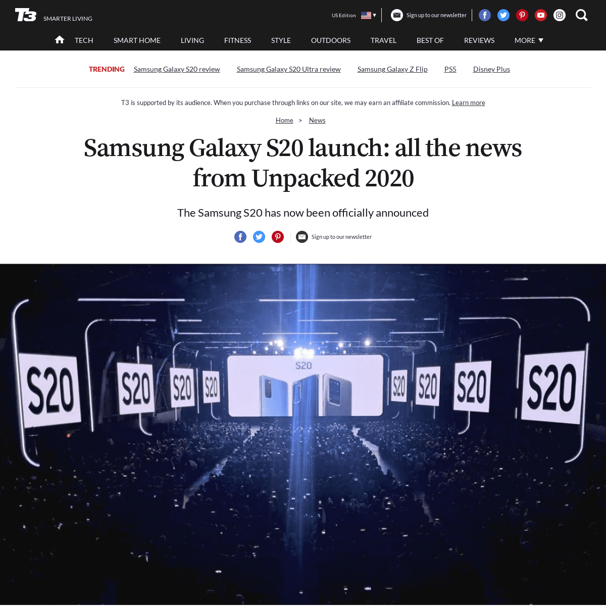 Samsung Galaxy S20 launch- all the news from Unpacked 2020 - T3