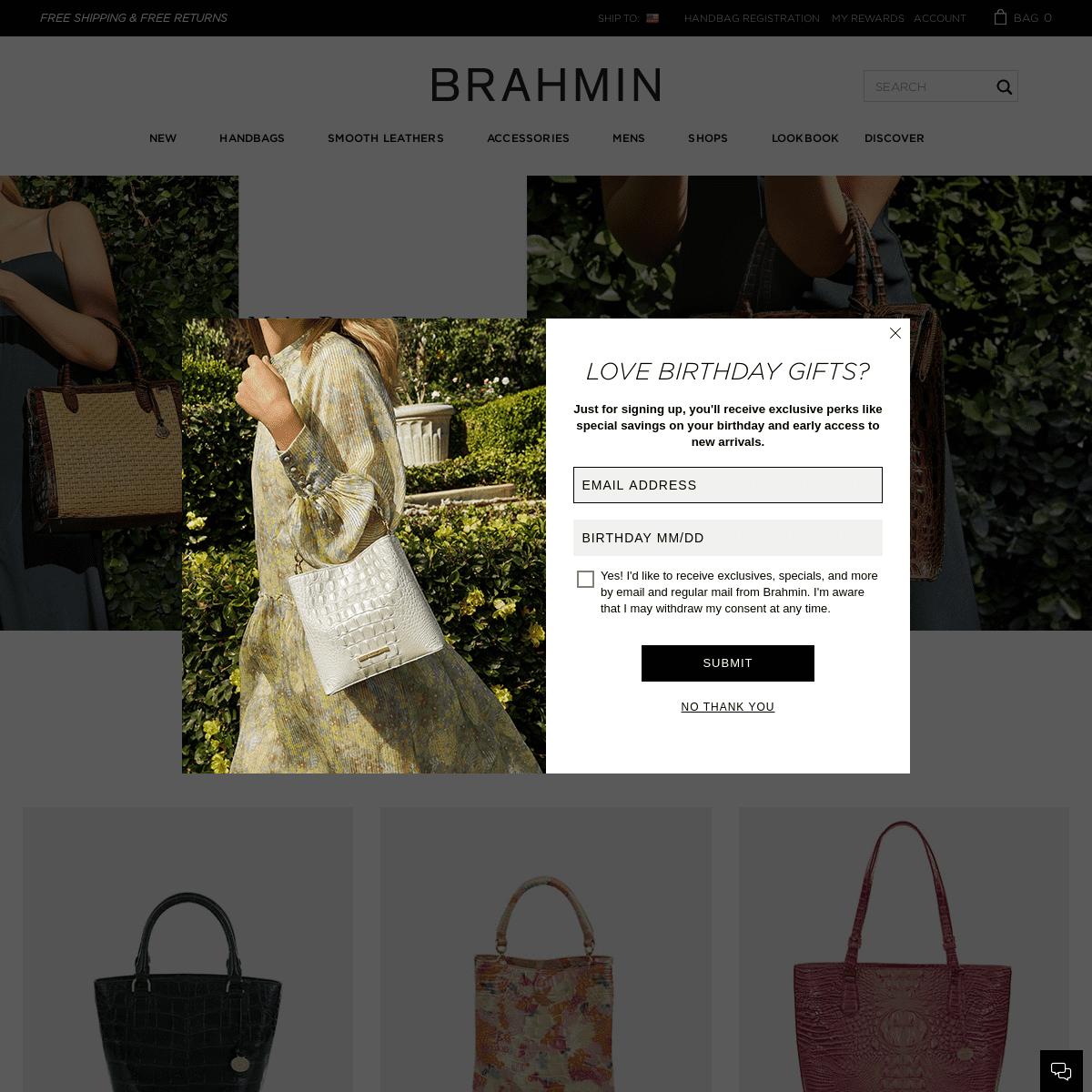 Brahmin Designer Leather Handbags
