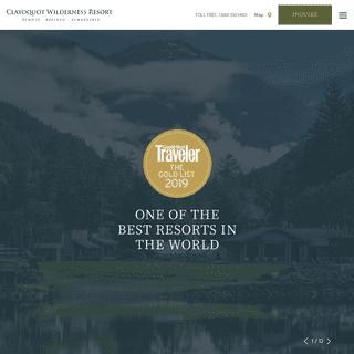 Tofino, Vancouver Island Resort - Clayoquot Wilderness Resort