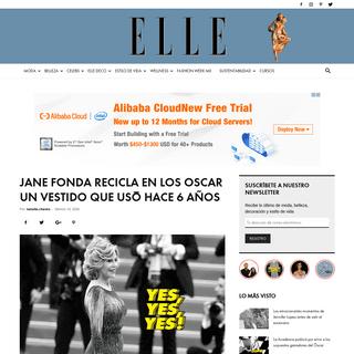 Jane Fonda recicla en los Oscar un vestido que usó hace 6 años