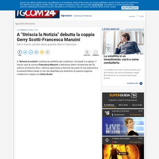ArchiveBay.com - www.tgcom24.mediaset.it/televisione/a-striscia-la-notizia-debutta-la-coppia-gerry-scotti-francesca-manzini_14831330-202002a.shtml - A -Striscia la Notizia- debutta la coppia Gerry Scotti-Francesca Manzini - Tgcom24
