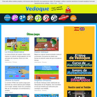 Juegos educativos Vedoque de Matemáticas, lectura, inglés y más cosas