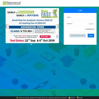 Resonance Eduventures Ltd.