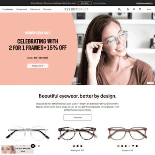Glasses & Sunglasses – Prescription Eyewear - EyeBuyDirect