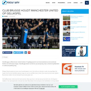 ArchiveBay.com - www.focus-wtv.be/sport/club-brugge-houdt-manchester-united-op-gelijkspel - Club Brugge houdt Manchester United op gelijkspel - Focus en WTV