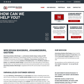 Web Design Boksburg, Johannesburg - From R1500 - Affordable Website Design Packages - Web Developer Gauteng