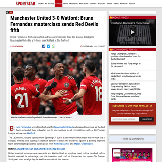 Bruno Fernandes masterclass sends Manchester United fifth - Sportstar