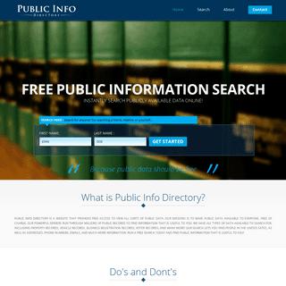 Public Records Directory