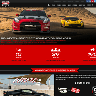 Speed Society – The largest automotive network in the world and a vertical content publisher-aggregator that delivers high qua