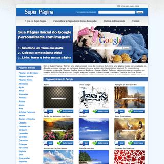 Página Inicial do Google Personalizada - Super Página