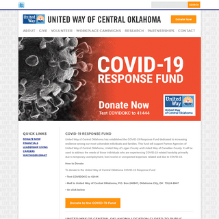 United Way of Central Oklahoma - Home