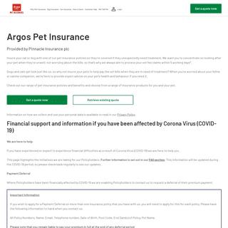 Pet Insurance - Get a Quote Today - Argos Pet Insurance