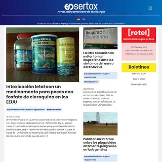 Sertox - Portal latinoamericano de toxicología