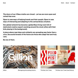 We create iconic brands — Base Design