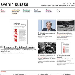 Home - Avenir Suisse