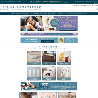 Things Remembered - Everything's Personal - Personalized Gifts