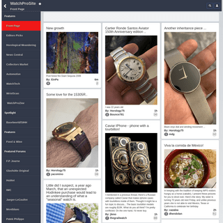 WatchProSite - Official WatchProSite Reviews of luxury Wristwatches for Collectors & buyers