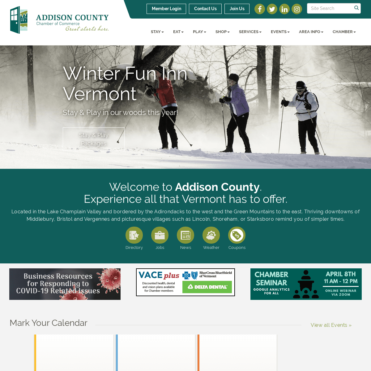 Home - Addison County Chamber of Commerce, VT