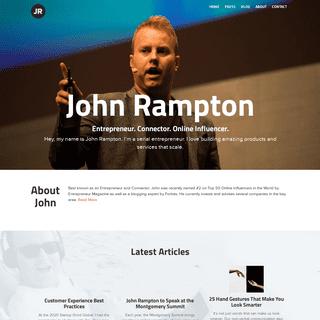 Home - Meet John Rampton - Entrepreneur, Investor and Connector