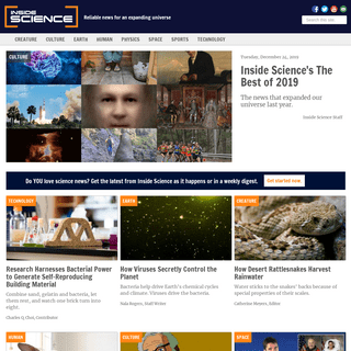 Inside Science - Reliable news for an expanding universe
