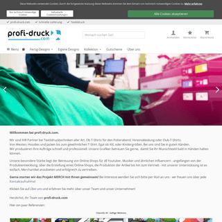 profi-druck.com personalisierter Textildruck und mehr