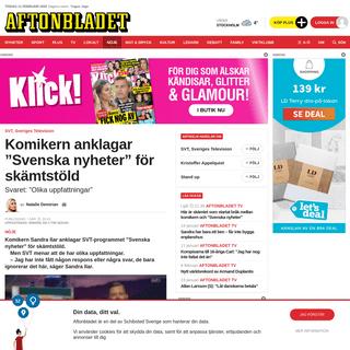 """Komikern Sandra Ilar anklagar """"Svenska nyheter"""" för skämtstöld - Aftonbladet"""