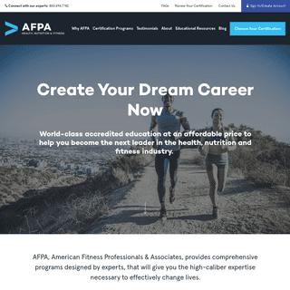 Health, Fitness & Nutrition Certifications and Courses - AFPA