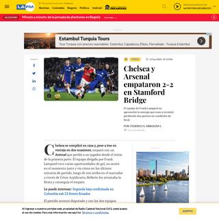 Arsenal le empató a Chelsea en Stamford Bridge - La FM