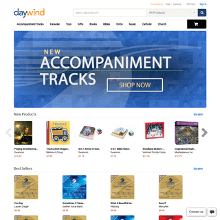 Online Shopping for Christian Music, Books, Movies, Gifts & more - daywind.com
