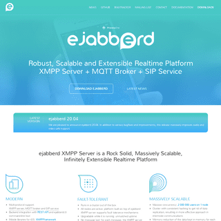 ejabberd XMPP Server with MQTT Broker & SIP Service