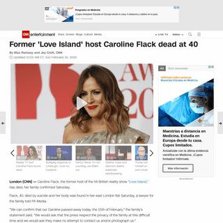 Former 'Love Island' host, dead at 40 - CNN