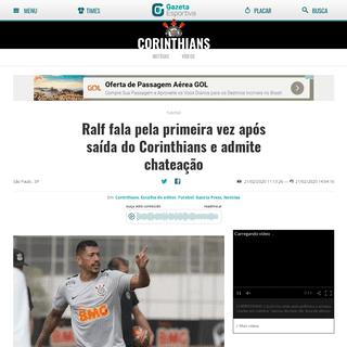 Ralf fala pela primeira vez após saída do Corinthians e admite chateação - Gazeta Esportiva
