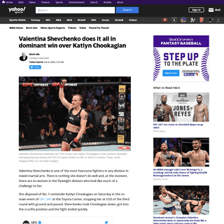UFC 247- Shevchenko TKOs Chookagian in flawless performance