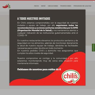ArchiveBay.com - chilis.com.mx - Restaurantes Chili's México - Hamburguesas, alitas, fajitas