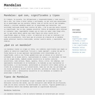 Mandalas – Que son los mandalas, significados, tipos y todo lo que necesitas