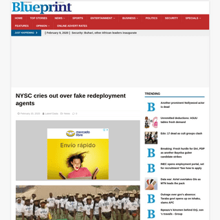 ArchiveBay.com - www.blueprint.ng/nysc-cries-out-over-fake-redeployment-agents/ - NYSC cries out over fake redeployment agents – Blueprint