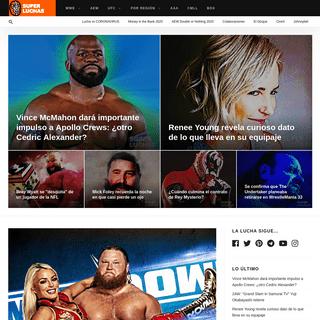 Superluchas - Noticias y resultados en vivo WWE, RAW, Lucha Libre, UFC, Box