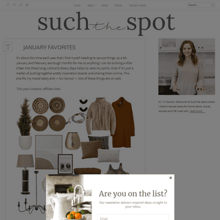 Such the Spot - a lifestyle blog