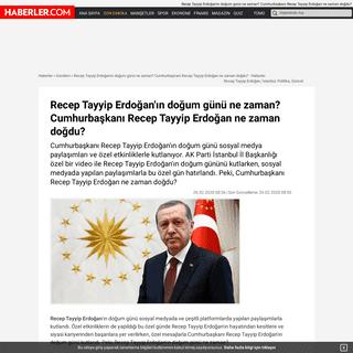 ArchiveBay.com - www.haberler.com/recep-tayyip-erdogan-in-dogum-gunu-ne-zaman-12955021-haberi/ - Recep Tayyip Erdoğan'ın doğum günü ne zaman- Cumhurbaşkanı Recep Tayyip Erdoğan ne zaman doğdu- - Haberler