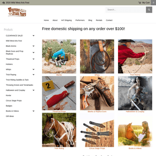 Buy Whips, Blank Guns, Blank Ammo, Replica Guns and More Online! - Western Stage Props