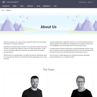 About us – Highcharts