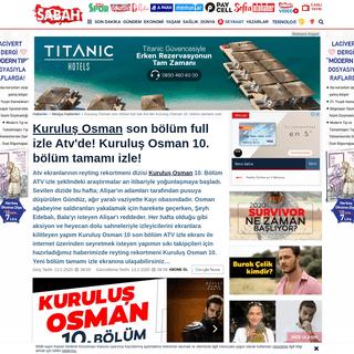 ArchiveBay.com - www.sabah.com.tr/medya/2020/02/13/kurulus-osman-10-bolum-atv-canli-izle-kurulus-osman-yeni-bolum-tamami-full-izle - Kuruluş Osman son bölüm full izle Atv'de! Kuruluş Osman 10. bölüm tamamı izle! - Medya Haberleri